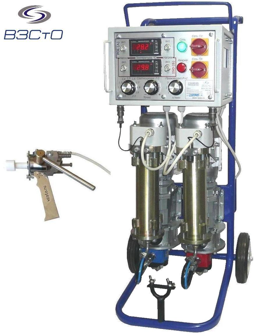 установка ппу с подогревом компонентов