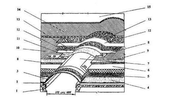 Устройство деформационного шва при гидроизоляции жидкой резиной