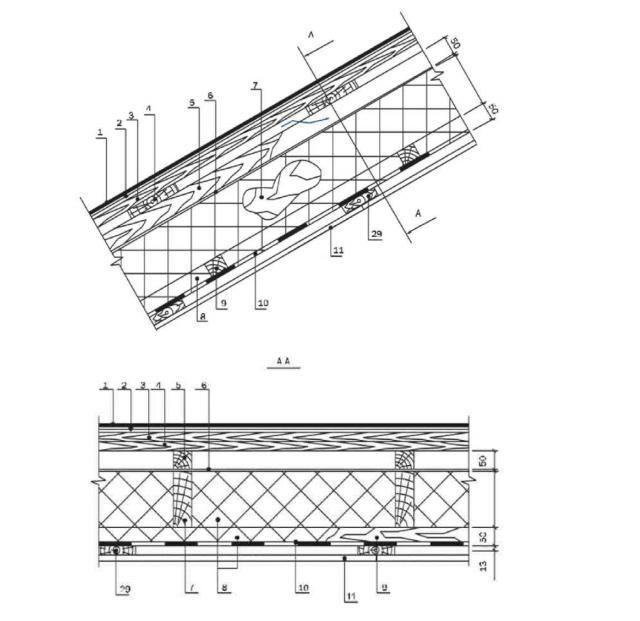Устройство кровельного пирога мансардного этажа с применением покрытия «жидкая резина»