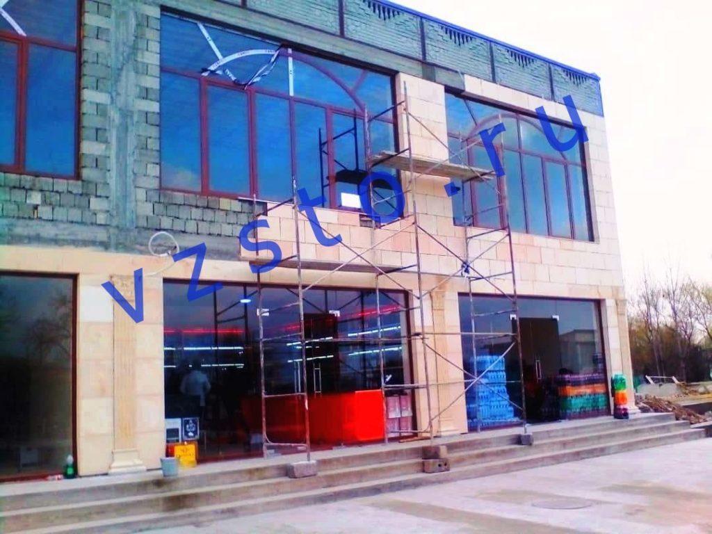 фасад из панелей сфб